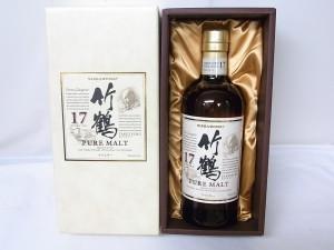 竹鶴17年を札幌市東区のお客様からお買取りしました。