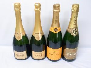 札幌市西区のお客様からクリュッグ・グランキュベ他シャンパン4本お買取りしました。