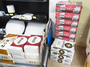 生ビール9ケース、日本酒18本お買取りしました/古平町